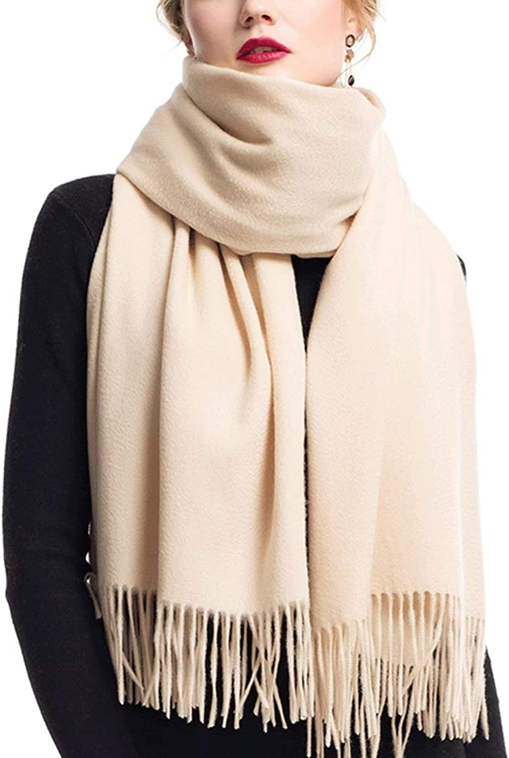 WXL Winter Scarf Thicken Oversized Shawl Woman Soft Elegant Classic Scarves 200cm×70cm V (color   Camel)