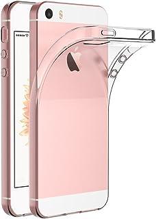 حافظة لهاتف آبل آيفون 5 / آيفون 5S / آيفون SE (4 بوصة) مايجين غطاء خلفي شفاف ممتص للصدمات مصنوع من البولي يوريثين اللدن با...