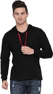 Pinaken Men's Full Sleeve Hooded Cotton T-Shirt