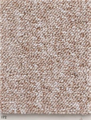 Schlingen Teppich in der Farbe beige erhältlich | Teppichboden verfügbar in der Breite 400cm & in der Länge 600cm | Bodenbelag wird als Meterware geliefert | Belastungsklasse (BK22)