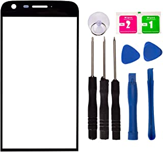 Replacement Screen Repair Front Outer Top Glass Lens Cover for LG G5 Speed H868 H858 H820 VS987 LS992 US992 H830 H840 H850 F700 H831 Dual H860N Mobile Phone Parts with Tools Kit (Black)