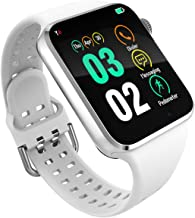 321OU Smart Watch for Android iOS Phones Compatible iPhone Samsung, SIM/SD Card Slot Support Smartwatch Fitness Tracker Fitness Watch Camera, Pedometer for Men Women (White)