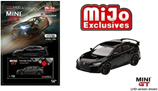 New DIECAST Toys CAR MINI GT 1:64 MIJO Exclusive - 2017 Civic Type R (FK8)(LHD)(Crystal Black) - MGT00015-MJ