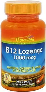 Thompson B12 + Folic Acid, Lozenge, Cherry (Btl-Plastic) 1000mcg   30ct