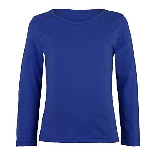 64c8823f6 ZET New Girls Plain Long Sleeve Kids Top Children Crew Neck T-Shirt School  Summer