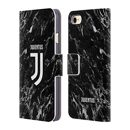 Head Case Designs Offizielle Juventus Football Club Schwarz Marmor Leder Brieftaschen Handyhülle Hülle Huelle kompatibel mit Apple iPhone 7 / iPhone 8 / iPhone SE 2020