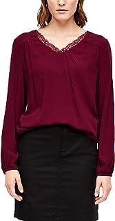 s.Oliver RED Label Damen O-Shape-Bluse mit Strukturmuster
