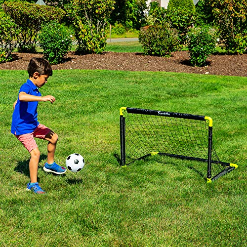 Franklin Sports Mini Soccer Goal - 36 x 24 Inch - Includes Size 1 Soccer Ball and Ball Pump