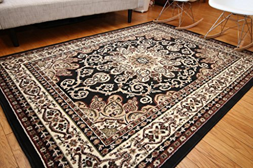 Oriental Traditional Isfahan Persian Area Rugs Beige Brown 2 x 3