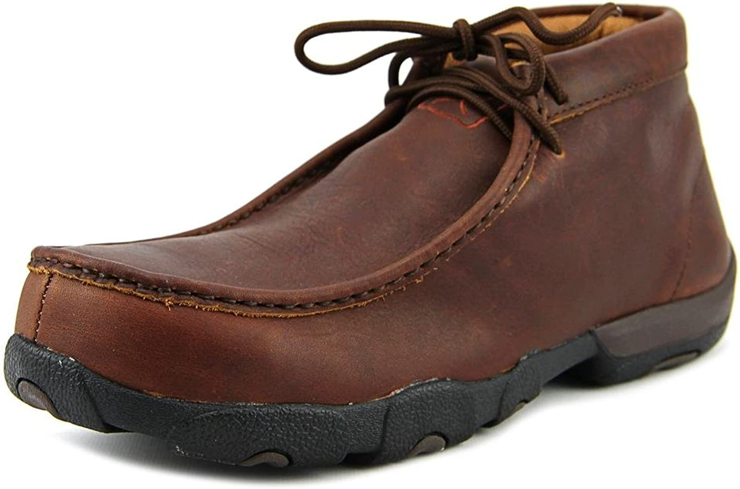Twisted X MDMCT01 Men's Driving Moc Safety shoes - Oiled Brown - 9.0\M