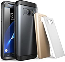 Galaxy S7 Case, SUPCASE Water Resistant Full-Body Rugged Case with Built-in Screen Protector for Samsung Galaxy S7 2016 Release, 3 Interchangeable Covers, Retail Package (Gun Metal/Silver/Gold)