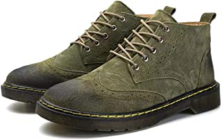YKDY Breathable Fashion Classic Retro High-top Man Shoes (Color:Army Green Size:38)