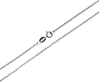 Sterling Silver 1mm/1.5mm/2mm Gliding Rolo Cable Chain Necklace 16''-40''