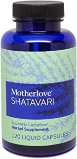 Motherlove Shatavari Vegan Capsules (120ct) Herbal Lactation Supplement—Support Breast Milk Supply During Hormonal Changes...