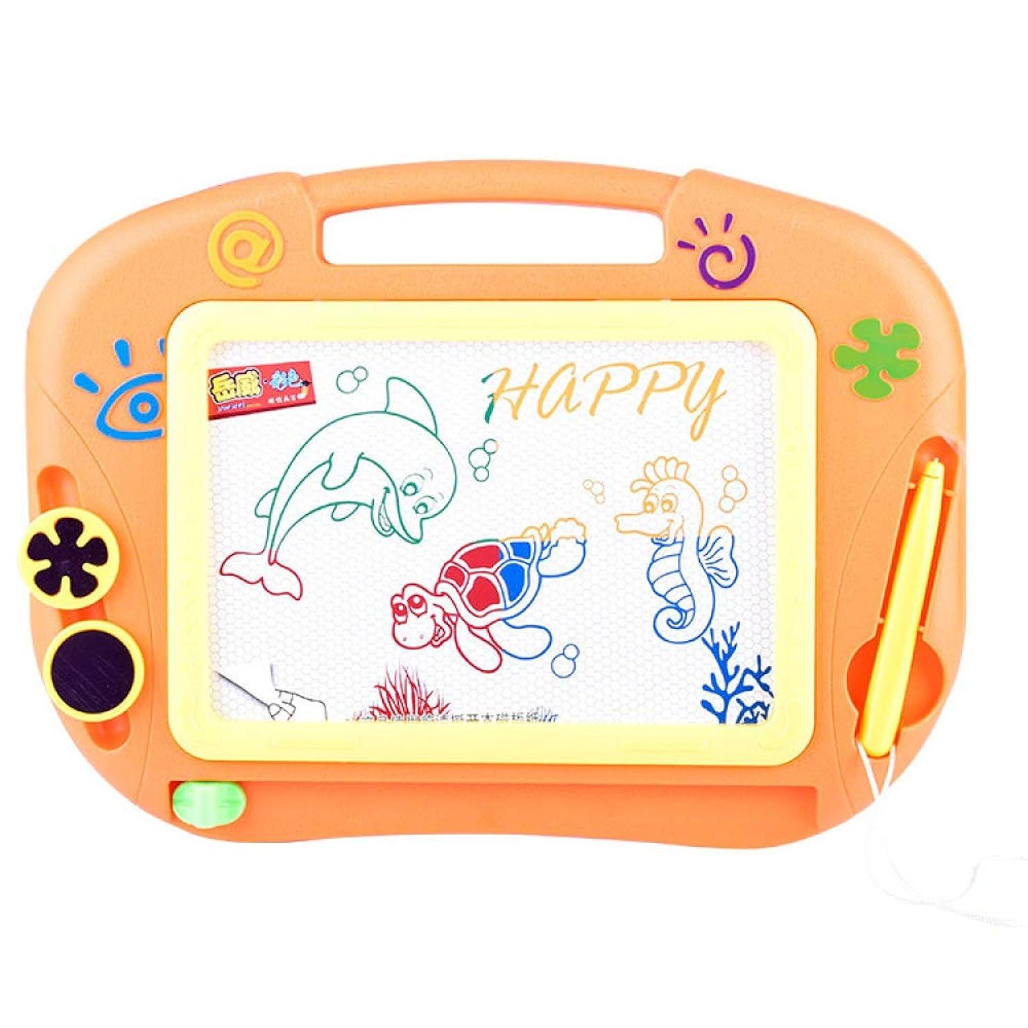 学期ほめる完全に乾く磁気製図板、リライタブルグラフィティ製図板、グラフィティ製板+ 2スタンプ、幼児/赤ちゃんに適しています,Orange
