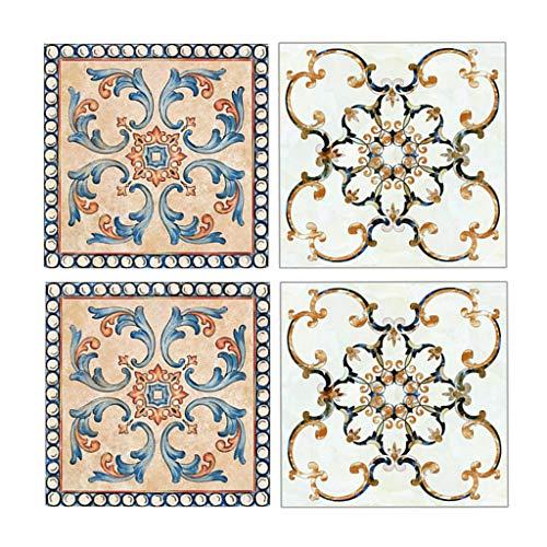 Fenteer Juego de 40 Unidades de Pegatinas Decorativas para Azulejos, Adhesivo de Vinilo para Azulejos, Protector Contra Salpicaduras - 8x8cm, 3.15x3.15inch-20