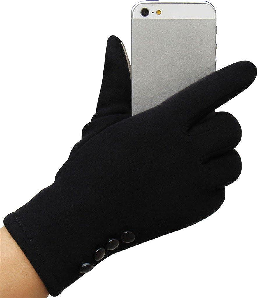 haoricu Women Gloves, Fashion Autumn Winter Touch Screen Outdoor Sport Warm Gloves