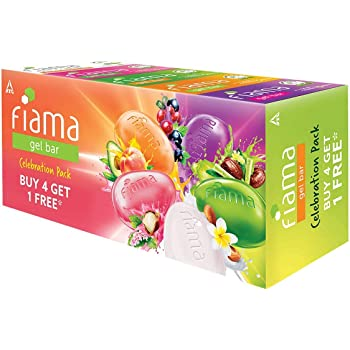 Fiama Gel Bar Celebration Pack with 5 unique Gel Bars, 125g (Buy 4 get 1 Free)