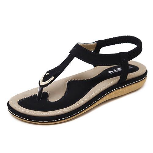 92cc8b1310ed6 DolphinBanana Bohemian Glitter Summer Flat Sandals Prime Thongs Flip Flop  Shoes Pink
