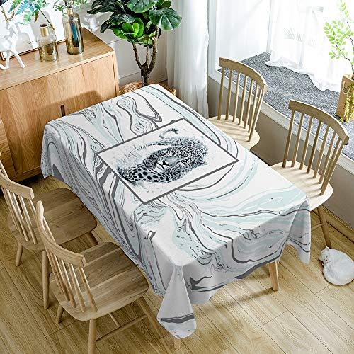 Tafelkleed Marmer Patroon Luipaard Moderne Minimalistische Rechthoekige Keuken Huishoudelijke Artikelen 55X78 Inches