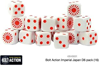 Bolt Action Warlord Games, Imperial Japanese D6 (16) Dice