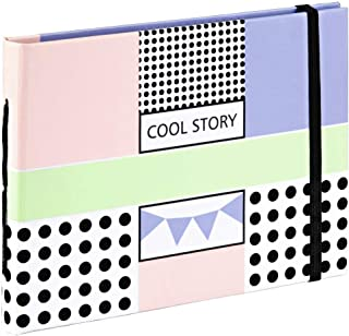 Invero Compact Cool Story Design Book Bound Photo Album with 20 Pages, Storing Pictures up to (11 x 15 cm) or Business Car...