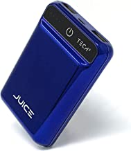 Tech2 Juice Portable Charger, One The Smallest Lightest 10,000 mAh Power Banks, Ultra-Compact, High-Speed Charging Technology 2 USB Ports for iPhone, Samsung Galaxy & More (Blue)