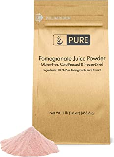PURE Pomegranate Juice Powder (1 lb) Natural & Vegan, Non-GMO & Gluten-Free, Potent Antioxidant & Vitamin C, K, Eco-Friend...