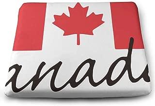 Indoor/Outdoor Comfortable Memory Foam Square Seat Cushion Canada Flag Maple Leaf Flag Chair Pad Wheelchair Cushion for Car