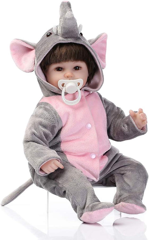 Arild Reborn Baby Dolls Silicone Full Body, Reborn Newborn Baby Doll Toddler, Real Baby Soft Lifelike Realistic Rebirth Dolls, Elephant Plush Clothes 16 Inch