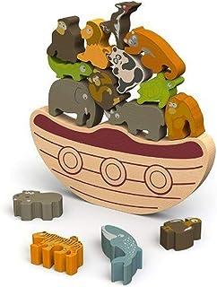 BeginAgain Balance Boat: Endangered Animals Game and Playset - 'Award-Winning Stacking Toys Game' - Balance Game with Wood...