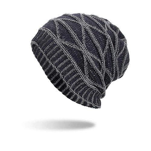 97d7a909d61 iYBUIA Women Men Warm Baggy Weave Crochet Winter Wool Knit Ski Beanie Skull  Caps Hat