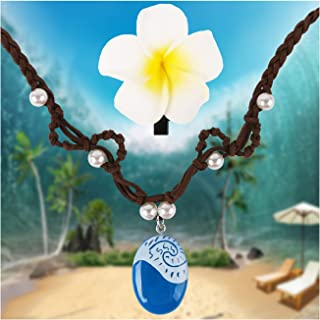 Mosqueda Necklace Moana Costume Dress Up Accessories Girls Halloween Party Favors