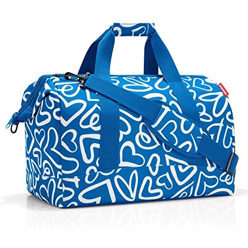 Reisenthel Funky Hearts Reisetasche, 40 cm, 18 Liter, blau/weiß