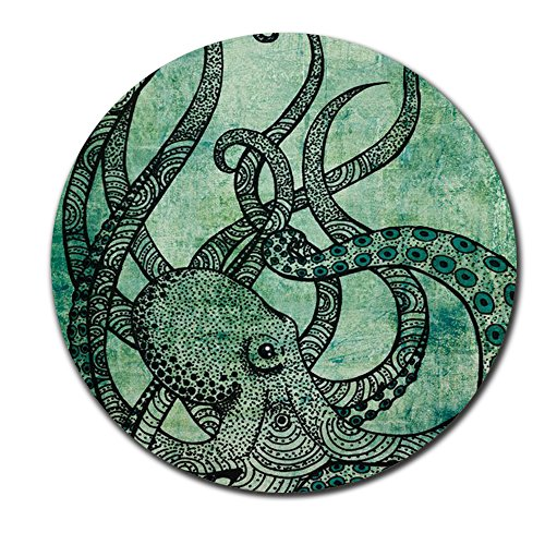 Gorgeous Cool Octopus Color Printed Round Vintage Mousepad