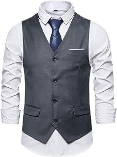 Men Vest Men Waistcoat Business Casual Men Waistcoat Formal Waistcoat Button Business Waistcoat Slim Temperament Office Ve...
