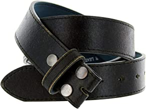 Classic Vintage Casual Jean Italian Leather Replacement Belt Strap 1 1/2