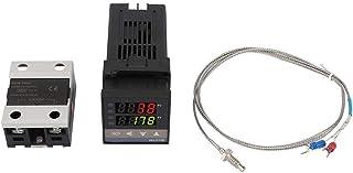 Zestaw regulatora temperatury - 0 ℃ ~ 1300 ℃ alarm REX-C100 Digital LED PID regulator temperatury zestaw termostatów AC 11...