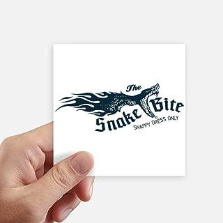 DIYthinker Animal Illustrarion Bite Snake Pattern Square Stickers 10cm Wall Suitcase Laptop Motobike Decal 8pcs