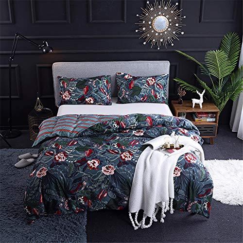 DXSX Bettwäsche Mode Minimalistischer Nordischen Stil Bettbezug + Kissenbezug Bettwäsche-Set (Blume, 135 x 200 cm)