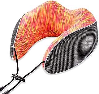 Travel Pillows Memory Cotton U-Shaped Pillow Portable Travel Pillow Care Cervical Neck Pillow Foldable Neck Pillow Foldable (Color : Orange, Size : 23 * 23 * 12CM)