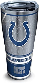 Tervis 1266047 NFL Indianapolis Colts Edge Stainless Steel Tumbler with Clear and Black Hammer Lid 30oz, Silver