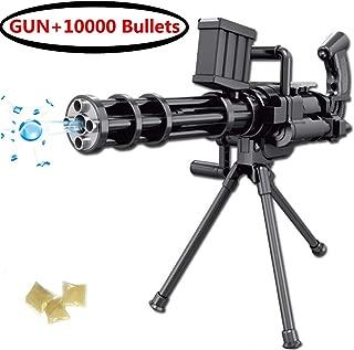 Toyfun Water Bullet Gun Foam Blaster Dart Gun Toy Manual Burst Shooting Water Gun with Bracket 10000 Pcs Soft Water Bomb Water Crystal Gel Bullet for Kids