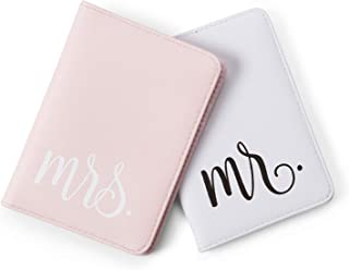 Mr./Mrs. Waterproof Passport Cases Travel Holder Set for ID, Money, Cards