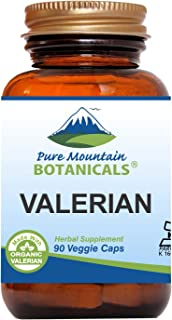 Valerian Root Capsules - 90 Kosher Vegan Caps - Now with 1000mg Organic Valerian Root Powder