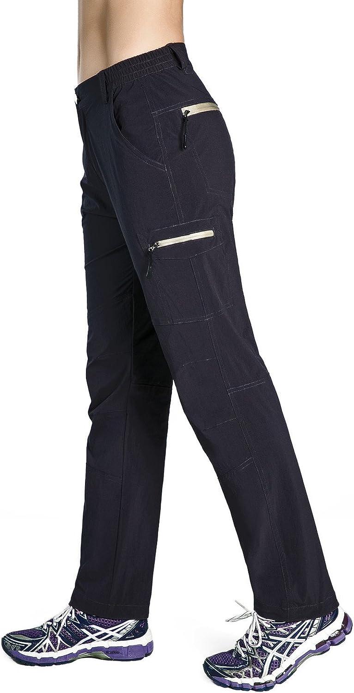 Nonwe Womens Quick Drying Lightweight Hiking Pants with Drawstring Hem