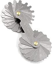 Radius Gauge Concave/Convex Arc Gage R1-7mm 34pieces Blades Set Stainless Metal Metric Reading