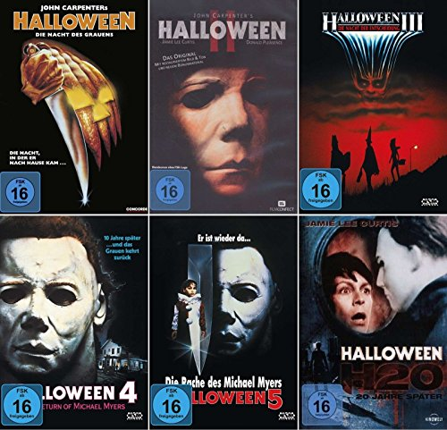 HALLOWEEN Edition Teil 1 2 3 4 5 H20 Michael Myers Collection 6 DVD Neu