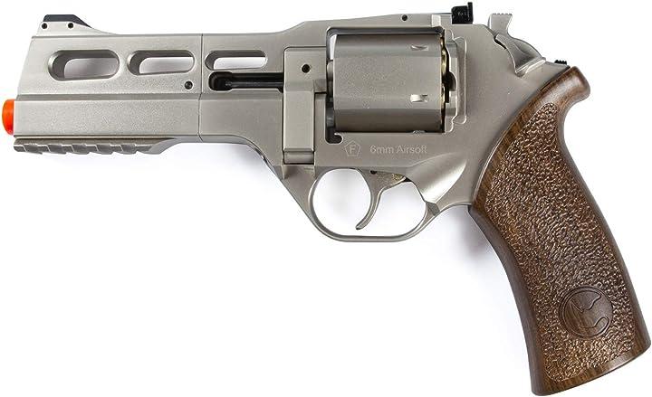 Pistola softair chiappa rhino 50 ds 357 magnum pistola softair revolver a c02 calibro 6mm colore silver/nero B08NFBMK1K