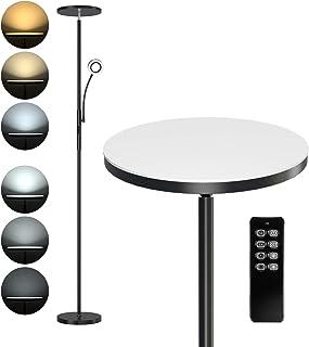 Anten 30W Lampadaire LED avec Liseuse Réglable 5W Lampadaire Sur Pied Salon avec Télécommande Lampe LED Sur Pied avec Lumi...